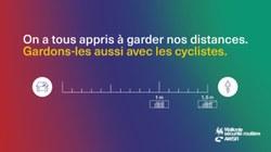 Dépassement des cyclistes et des motards… Gardez-vous la bonne distance de sécurité ?