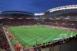 Diffusion de rencontres de football sur écran géant sur le territoire belge
