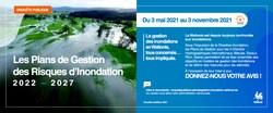 Enquête publique : Les projets des Plans de Gestion des Risques d'inondation 2022-2027