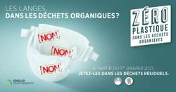 Les langes, dans les déchets organiques ? Non, non, non !