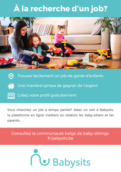 poster pour baby sitters