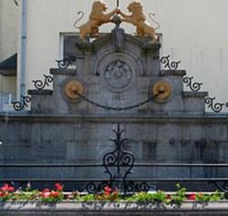 Remise en place de la La Fontaine Aux Lions