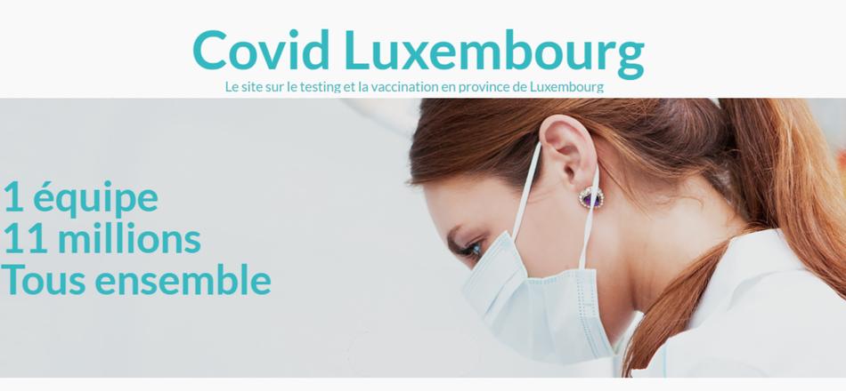 Site internet CovidLuxembourg