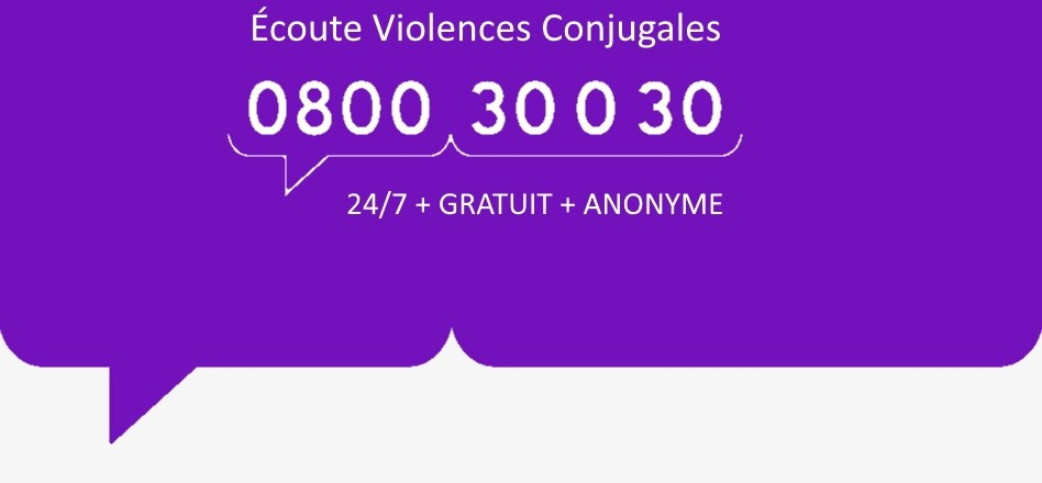 Rien ne justifie la violence conjugale et intrafamiliale !