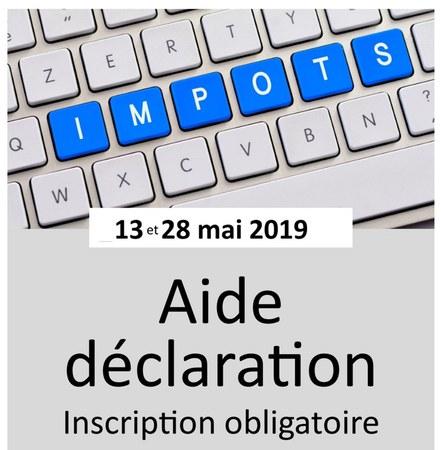 Aide à la déclaration d'impôt - Inscription obligatoire